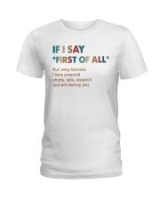 If I say vintage Ladies T-Shirt thumbnail