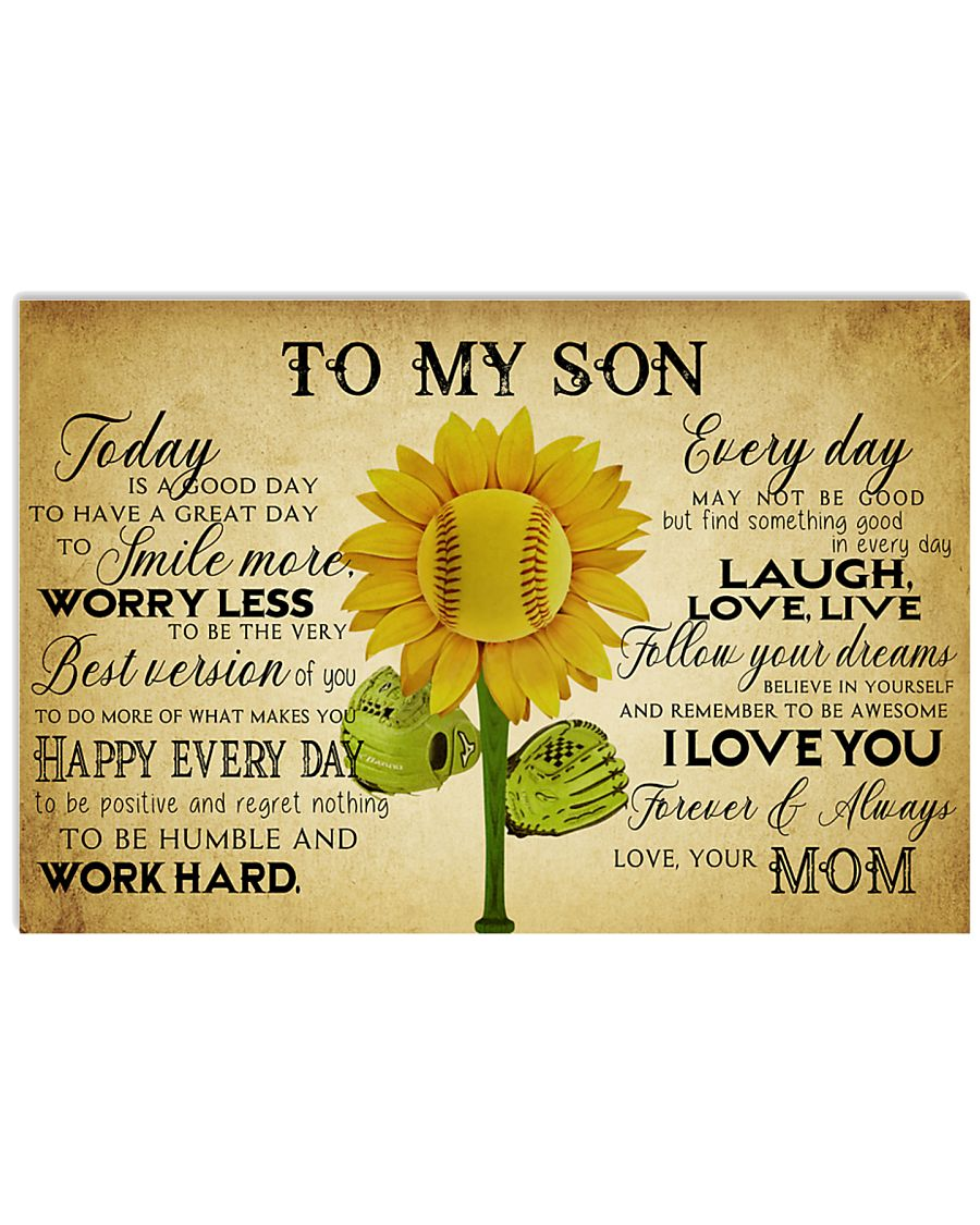 Baseball To My Son Today Mom 17x11 Poster