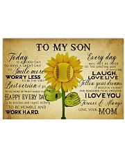 Baseball To My Son Today Mom 17x11 Poster front