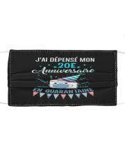20 French Spent Birthday Cloth face mask thumbnail