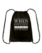 When hate love Drawstring Bag thumbnail