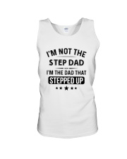 dad stepped up Unisex Tank thumbnail