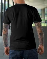 Autism Peace Hippie Love Classic T-Shirt lifestyle-mens-crewneck-back-3