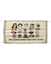 Well behaved woman Cloth face mask front