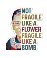 RBG not fragile sunflower Sticker - Single (Vertical) thumbnail
