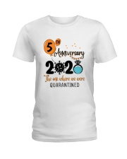5th Anniversary quarantined Ladies T-Shirt thumbnail
