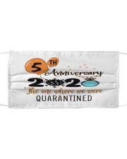 5th Anniversary quarantined Cloth face mask thumbnail