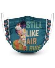 Maya Angelou wpap I rise 2 Layer Face Mask - Single front