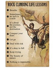 Rock Climbing Life Lessons 11x17 Poster front