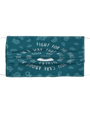 RBG fight pattern Cloth face mask front