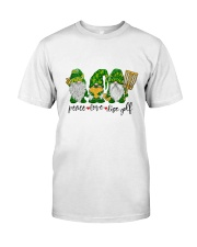 Disc Golf Peace Love Gnome Classic T-Shirt front