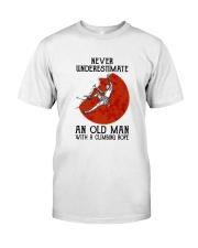 Old Man Rock climbing Classic T-Shirt front