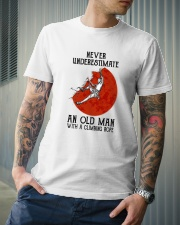 Old Man Rock climbing Classic T-Shirt lifestyle-mens-crewneck-front-6