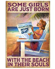 Some Girl Are Just Born With The Beach In  11x17 Poster front