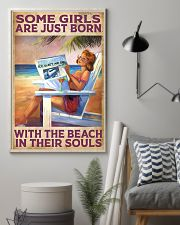 Some Girl Are Just Born With The Beach In  11x17 Poster lifestyle-poster-1