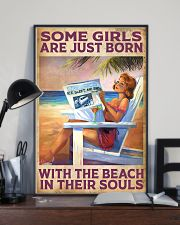 Some Girl Are Just Born With The Beach In  11x17 Poster lifestyle-poster-2