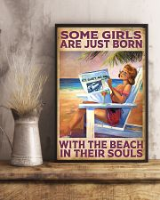Some Girl Are Just Born With The Beach In  11x17 Poster lifestyle-poster-3
