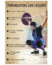 Powerlifting Life lessons 11x17 Poster front