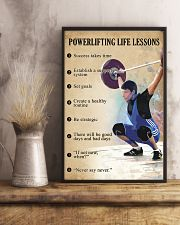 Powerlifting Life lessons 11x17 Poster lifestyle-poster-3