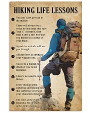 Hiking life lessons 11x17 Poster front