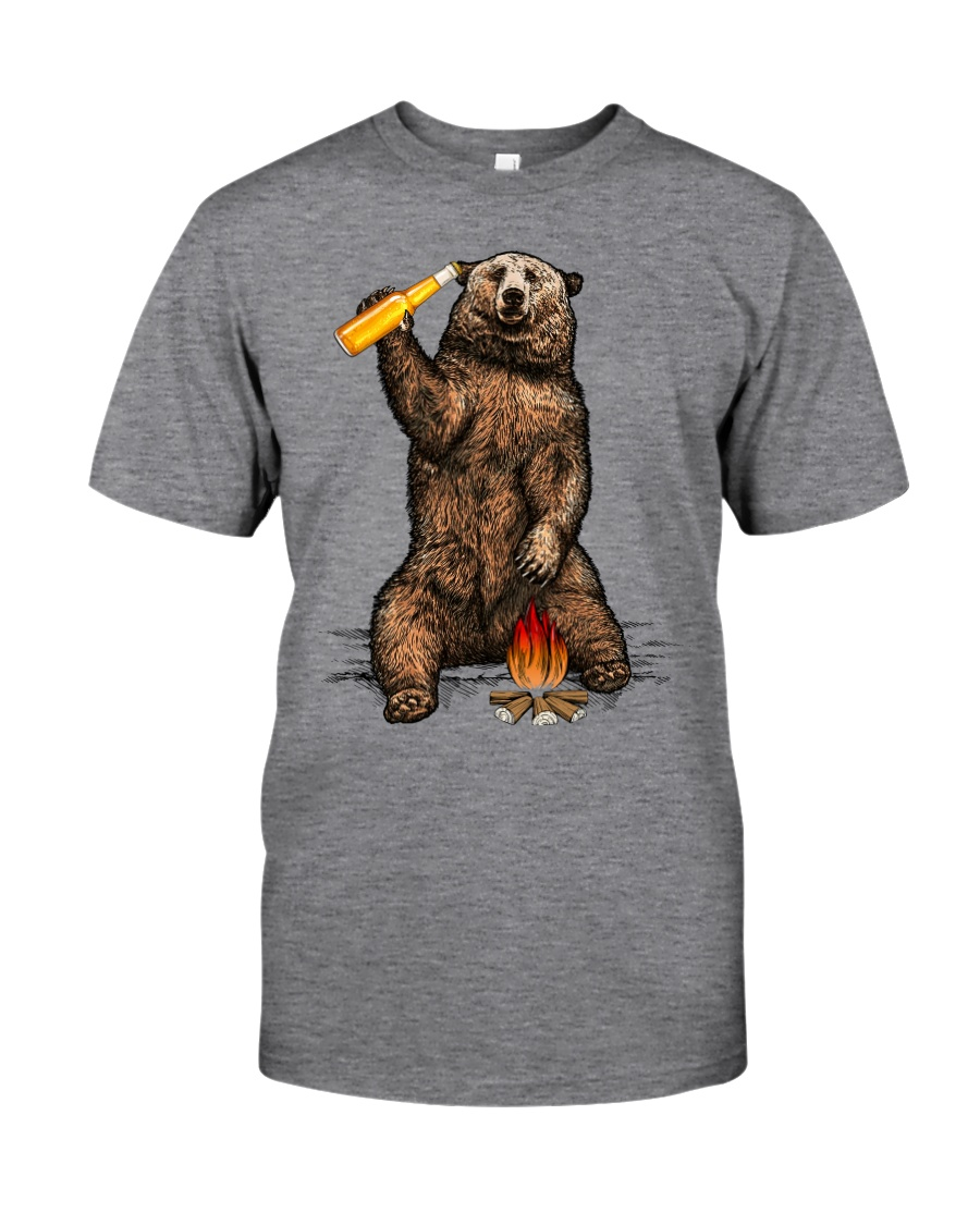 Bear Hates People Shirt front Classic T-Shirt