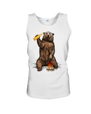 Bear Hates People Shirt front Unisex Tank tile