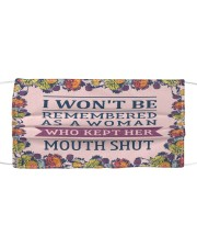 I wont be remembered floral Cloth face mask thumbnail