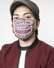 I wont be remembered floral 2 Layer Face Mask - Single aos-face-mask-2-layers-lifestyle-front-08