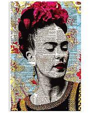 Frida Kahlo floral dict art 11x17 Poster thumbnail