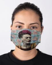 Frida Kahlo floral dict art Cloth face mask aos-face-mask-lifestyle-01