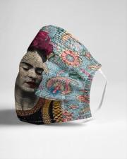 Frida Kahlo floral dict art Cloth face mask aos-face-mask-lifestyle-21