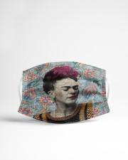 Frida Kahlo floral dict art Cloth face mask aos-face-mask-lifestyle-22