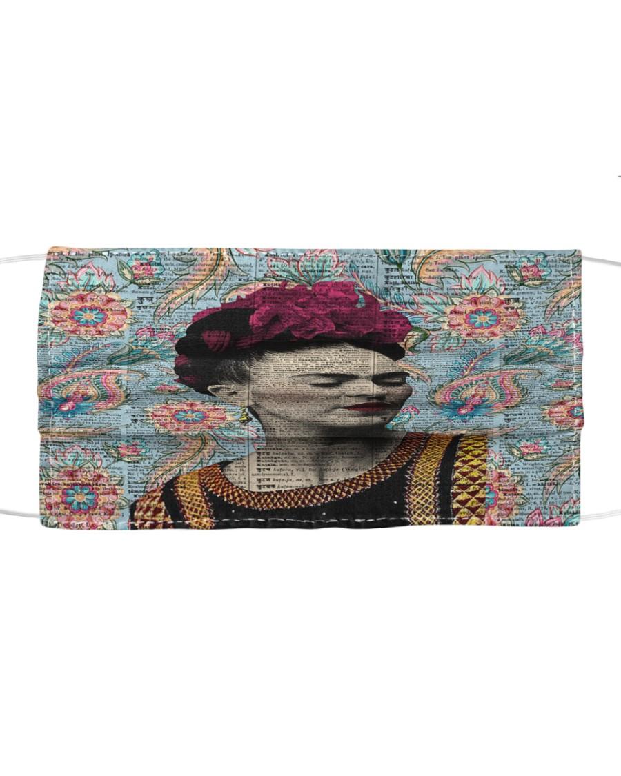 Frida Kahlo floral dict art Cloth face mask