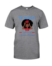 The graduate melanated red Classic T-Shirt tile