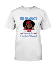 The graduate melanated red Classic T-Shirt front
