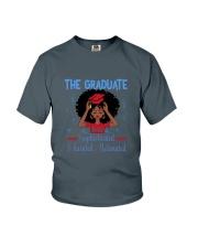 The graduate melanated red Youth T-Shirt thumbnail