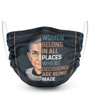 RBG women belong 2 2 Layer Face Mask - Single front