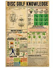 Disc Golf Disc Golf knowledge poster 11x17 Poster front