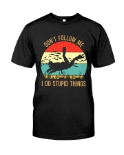 Bigfoot Freediving I Do Stupid Things Classic T-Shirt tile