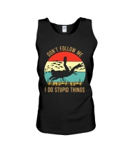 Bigfoot Freediving I Do Stupid Things Unisex Tank tile