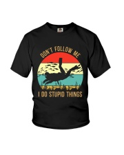 Bigfoot Freediving I Do Stupid Things Youth T-Shirt thumbnail
