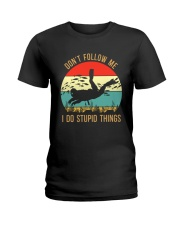 Bigfoot Freediving I Do Stupid Things Ladies T-Shirt thumbnail