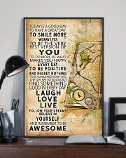 Orienteering Today Is A Good Day 11x17 Poster lifestyle-poster-2