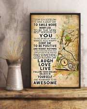 Orienteering Today Is A Good Day 11x17 Poster lifestyle-poster-3