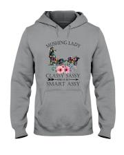 Dog Sledding mushing Classy Hooded Sweatshirt thumbnail