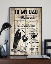 Surfing Little Boy To Dad 11x17 Poster lifestyle-poster-2