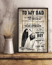 Surfing Little Boy To Dad 11x17 Poster lifestyle-poster-3