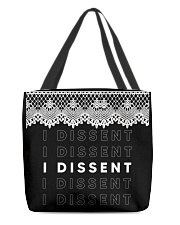 RBG collar dissent shirt All-over Tote thumbnail