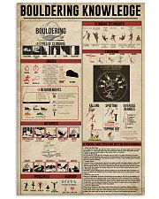 Bouldering Knowledge 11x17 Poster front