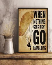 Paragliding Nothing Goes Right 11x17 Poster lifestyle-poster-3